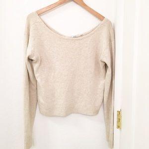 KimchiBlue crop sweater scoop neck Cream Sz: M